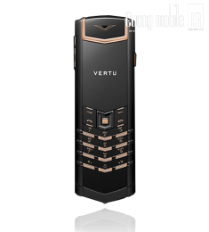 Vertu Signature Black PVD Red Gold Mixed Metal lướt 99%
