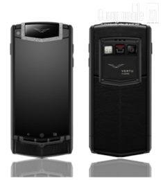 Vertu Ti Titanium Pure Black White Diamonds
