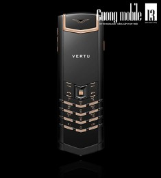 Vertu Signature Black PVD Red Gold Mixed Metal 90%