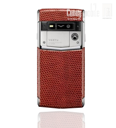 Vertu Signature Touch Dark Scarlet Lizard