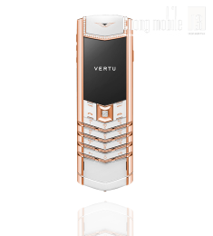 Vertu Signature Pure White Red Gold Diamonds 90%
