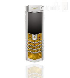 Vertu Signature S Gold Mother Of Pearl White Alligator 90%